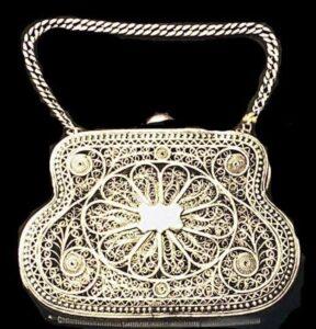 Silver Filigree Purse, 19 century, Yerevan, Museum of Folk Art
