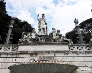 Fontana della Dea Roma Piazza Popolo Rome