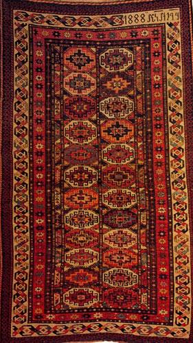 """Armenian Rug with inscription """"1888.."""""""