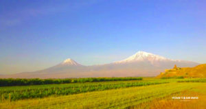 Khor Virap with Mount Ararat in background