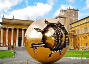 Sphere within Sphere, Sfera con Sfera - Arnaldo Pomodoro, Vatican