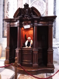 Confession Booth in Saint Peter's Basilica
