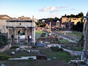 Roman Forum, Triumphal Arch of Septimius Severus