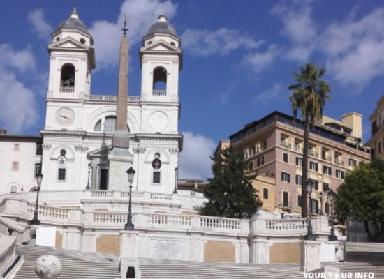 The Spanish Steps, 1723–1725, Between the Piazza di Spagna at the Base and Piazza Trinità dei Monti Church at the Top.