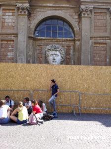Head of Caesar Augustus, Pinecone Courtyard, Vatican Museums