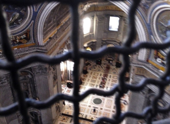 St. Peter's Basilika inside from Cupola