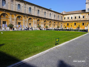 The Cortile del Belvedere, Belvedere Courtyard.