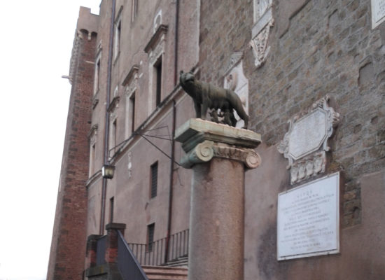 The Capitoline Wolf - Bronze Sculpture Depicting a Scene from the Legend of the Founding of Rome. Musei Capitolini, Rome.
