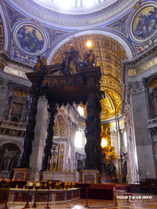 St. Peter's Baldachin, Baldacchino di San Pietro. 1623–1634. Bronze. Gian Lorenzo Bernini. 28.74 m.