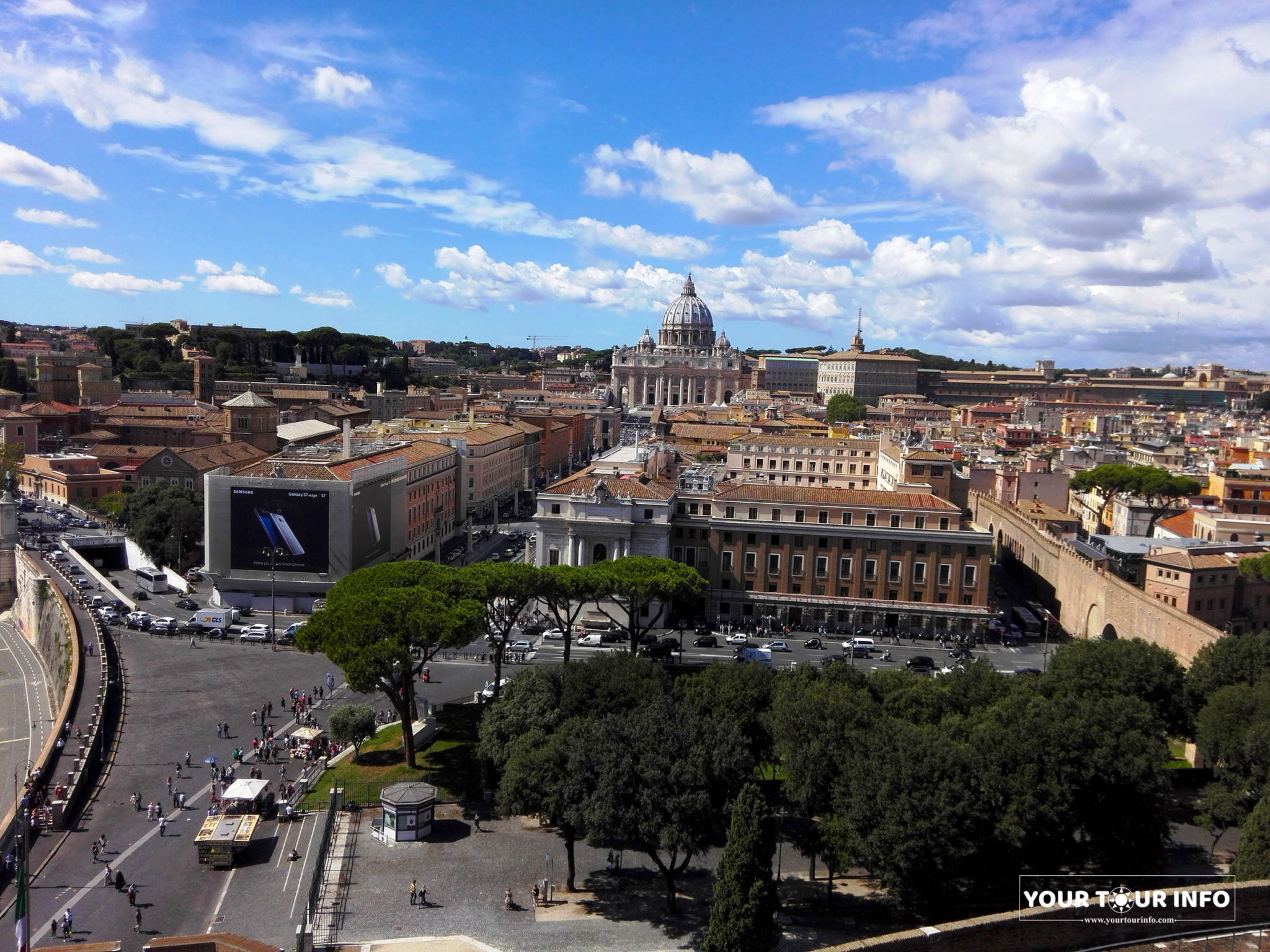 Vatican from The Mausoleum of Hadrian, Rome