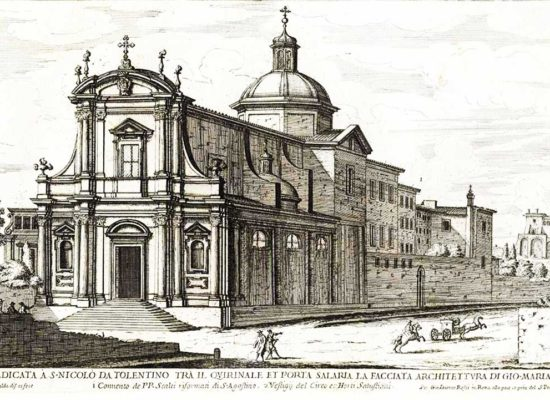 San Nicola da Tolentino Roma, Еngraving, Author: Giovanni Battista Falda