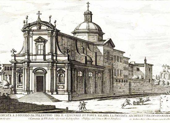 San Nicola da Tolentino Roma, Еngraving, Author: Giovanni Battista Falda