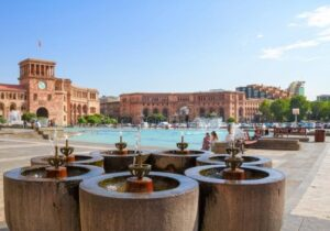 Drinking Fountains in Republic Square.