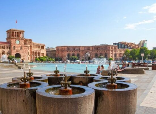 Drinking Fountains in Republic Square