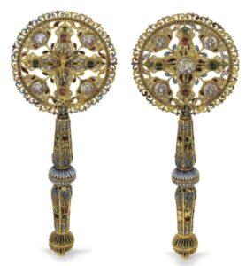 Armenian Gold and Enamel Benediction Cross, 19th century