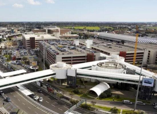 """Rome Fiumicino International Airport (FCO) """"Leonardo da Vinci"""". Major Airport in Italy."""