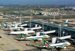 "Fiumicino International Airport ""Leonardo da Vinci"", Rome. Major Airport in Italy. One of the Busiest Airports in Europe. 30km away from the City Centre."