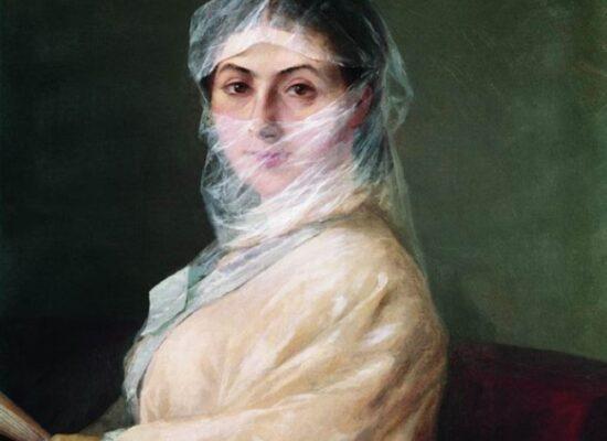 Aivazovsky's Wife Anna Burnazian, 1882.