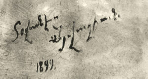 Aivazovsky's Signature in Armenian on Oil Painting,1899