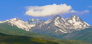 Mount Aragats: Northern—4,090 m, Western—3,995 m, Eastern—3,908 m, Southern—3,888 m.