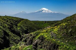 The Amberd Fortress & Mount Ararat.