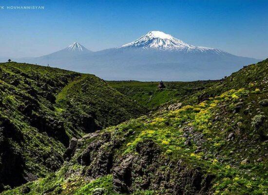 The Amberd Fortress & Mount Ararat.