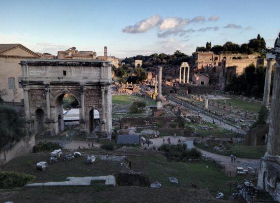 Triumphal Arch of Septimius Severus in the Roman Forum, 203 AD.