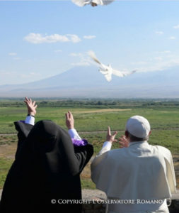 Catholicos of All Armenians His Holiness Garegin II and Pope Francis in Armenia