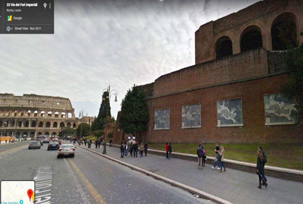 Anchient Maps near Coliseum, Basilica of Maxentius