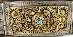 Armenian Belt, fragment of filigree inset, 19th century
