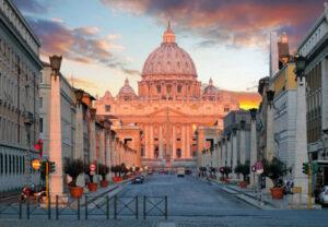 Embassy of the Republic of Armenia in the Vatican (on the left). Via Della Conciliazione 3.