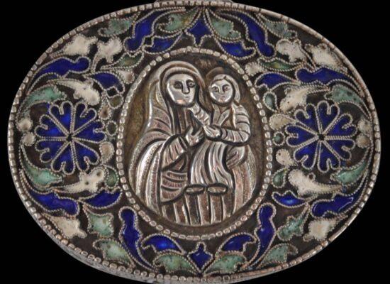 Armenian Enameled and Filigree Silver Holy Altar Box, 18th-19th century