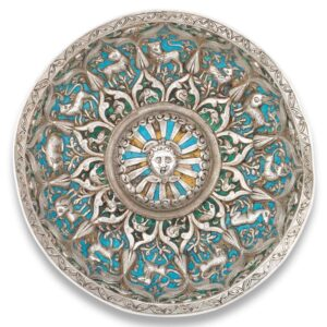 Armenian Enamelled Silver Cup Bowl, 18th century