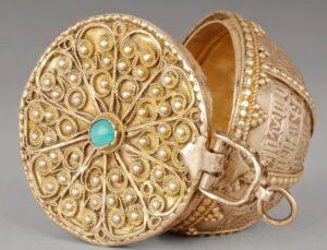 Armenian Jewelry box, 1751, Armenian Museum of France (AMF), Musée Arménien de France, Paris, France.