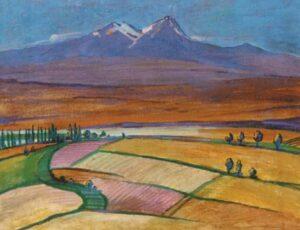 Armenian Landscape with Mount Aragats, 1954