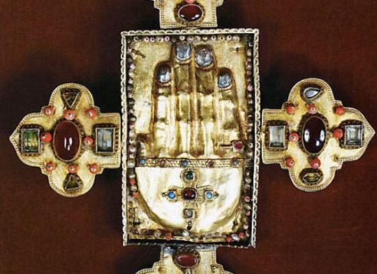 Armenian Reliquary Cross with Relics of Saint John the Baptist, Cilicia, 14th century, Metropolitan Museum of Art