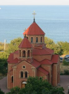 Armenian Surb Grigor Lusavorych church in Odessa, 1995