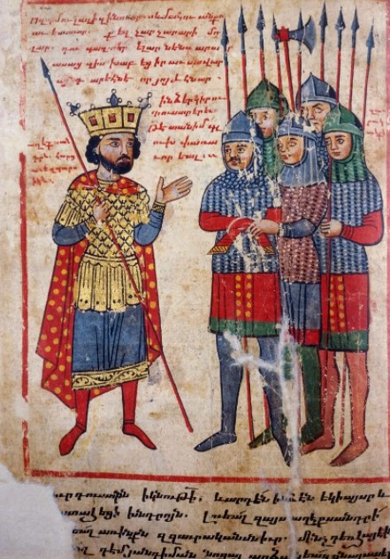 Armenian illuminated manuscript of XIV century, Venice, San Lazzaro