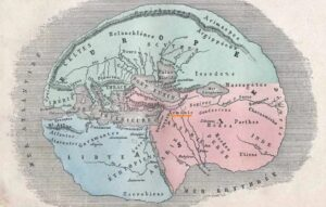 Armenian on antique world map according to Herodotus, 484–425 BC, by L. Fig, Hachette,1884