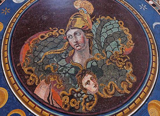 Athena Mosaic floor (fragment), Pio-Clementino Museum