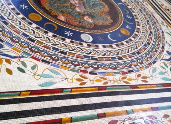 Athena Mosaic Floor, Museum Pio Clementino.