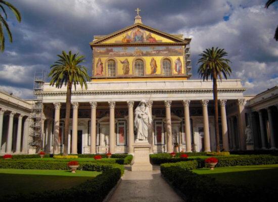 Basilica Papale San Paolo Fuori le Mura. Facade. 1, Piazzale San Paolo.