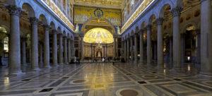 Basilica Papale San Paolo Fuori le Mura. Inside.