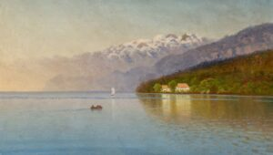 Boating on the Lake, 1915
