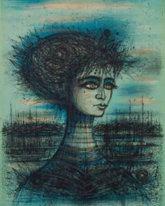 Bust of Lady,1966, lithograph