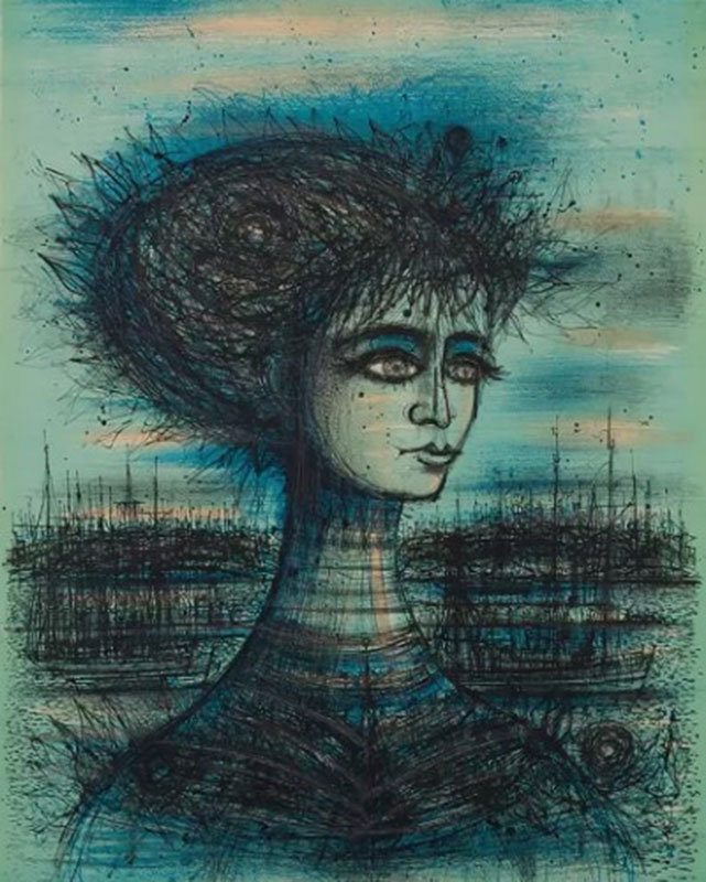 Ca s'est passé en août ! Bust-of-Lady-1966-lithograph-1