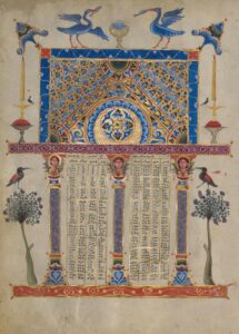 Canon Table Page, 1256