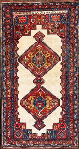 """ChaharMahal Armenian rug with an- nscription """"Hovsep-Shaghil, 1889"""""""