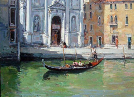 Church on canal in Venice, Ciro Canzanella