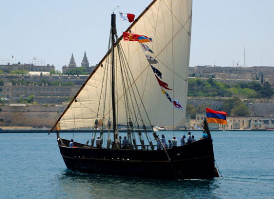 Life Size Replica of the Medieval Vessel of Cilician Kingdom of Armenia. 1080–1375 (1424). Vessel was built during 11 years.